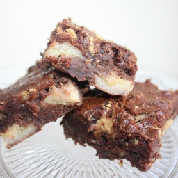 Brownie chocolat, banane, beurre de cacahuètes